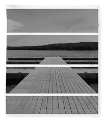 Long Lake Dock Fleece Blanket