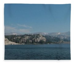 Long Lake Shoshone National Forest Fleece Blanket