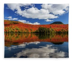 Long Pond And Clouds Fleece Blanket