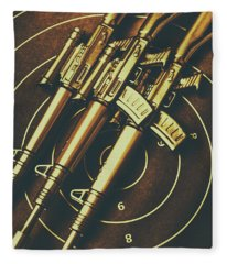 Long Range Tactical Rifles Fleece Blanket