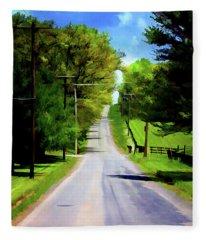 Long Road Ahead Fleece Blanket