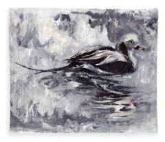 Long-tailed Duck Fleece Blanket