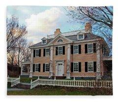 Longfellow House At Sunset Fleece Blanket