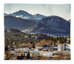 Longs Peak From Estes Park Fleece Blanket