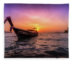 Longtail Sunset Fleece Blanket