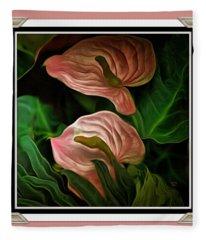Longwood Lilies Fleece Blanket