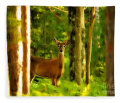 Look Deep Into Nature Fleece Blanket