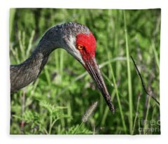 Look Down Crane Fleece Blanket