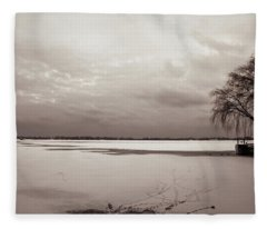 Look Towards Toronto Island Fleece Blanket