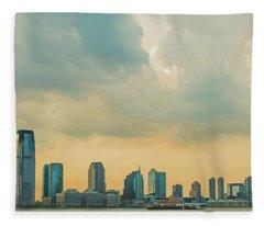 Looking At New Jersey Fleece Blanket