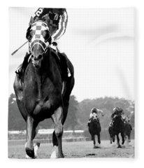 Looking Back, 1973 Secretariat, Stretch Run, Belmont Stakes Fleece Blanket