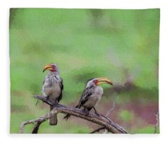 Looking Both Ways Fleece Blanket
