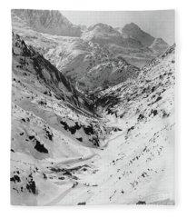 Looking Down Through Cutoff Canyon From Half Mile Below White Pass Summit, During The Klondike Gold  Fleece Blanket