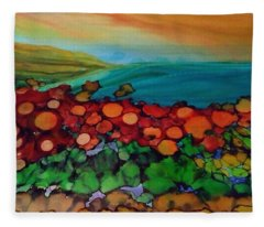 Looking East Fleece Blanket