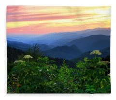 Looking Out Over Woolyback On The Blue Ridge Parkway  Fleece Blanket