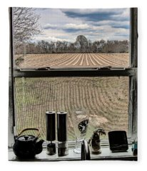 Looking Out The Window Fleece Blanket