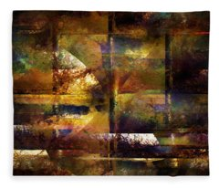 Looking Out Through Bars Fleece Blanket