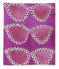 Looking At The World Through Rose Colored Sunglasses Fleece Blanket