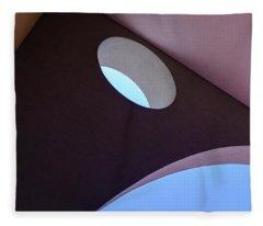 Looking Up At Strange Architecture In Sanford Florida Fleece Blanket