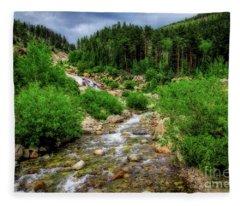 Looking Upstream Fleece Blanket