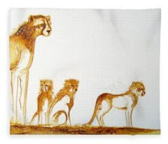 Lookout Post - Original Artwork Fleece Blanket