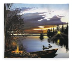 Loon Lake Fleece Blanket