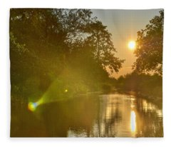 Loosdrecht Lensflare Fleece Blanket