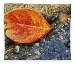 Loose Leaf Fleece Blanket