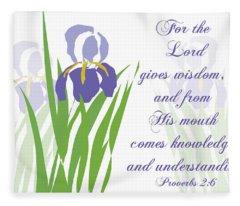 Lord Gives Wisdom Proverbs Fleece Blanket