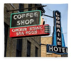 Lorraine Hotel Coffee Shop Fleece Blanket