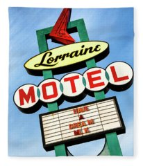 Lorraine Motel Sign Fleece Blanket