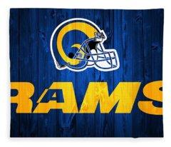 Los Angeles Rams Barn Door Fleece Blanket