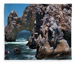 Los Arcos In Baja California Mexico Fleece Blanket