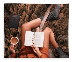 Lose Yourself In A Good Book Fleece Blanket