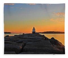 Lost In The Sunrise Fleece Blanket