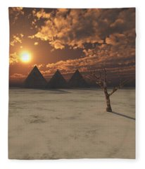 Lost Pyramids Fleece Blanket