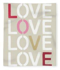 Lots Of Love- Art By Linda Woods Fleece Blanket