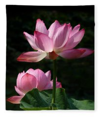 Lotus Beauties--upstaged Dl048 Fleece Blanket