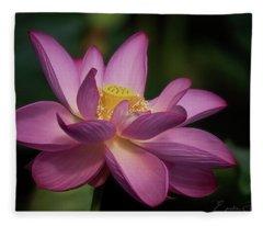 Lotus Bloom Fleece Blanket