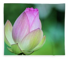 Lotus Bud Fleece Blanket