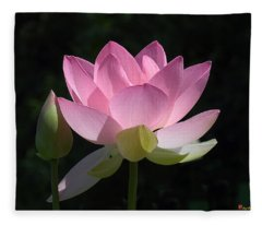 Lotus Bud--snuggle Bud Dl005 Fleece Blanket