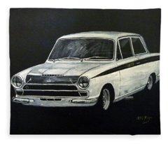 Lotus Cortina Fleece Blanket