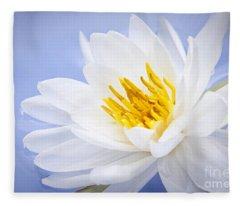 Lotus Flower Fleece Blanket