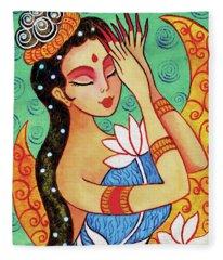 Lotus Meditation Fleece Blanket