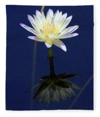 Lotus Reflection Fleece Blanket