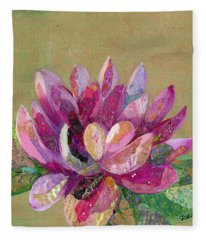 Lotus Series II - 4 Fleece Blanket