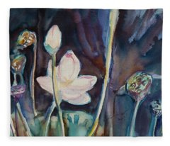 Lotus Study II Fleece Blanket