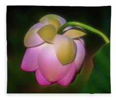 Lotus, Upside Down  Fleece Blanket