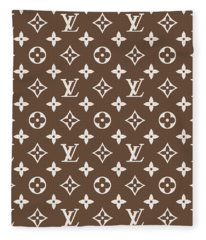 Louis Vuitton Pattern - Lv Pattern 05 - Fashion And Lifestyle Fleece Blanket