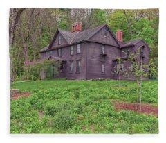 Louisa May Alcotts Orchard House Concord Massachusetts Fleece Blanket